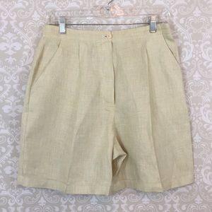 {Giorgio Armani} Le Collezioni Size 10 Linen Short